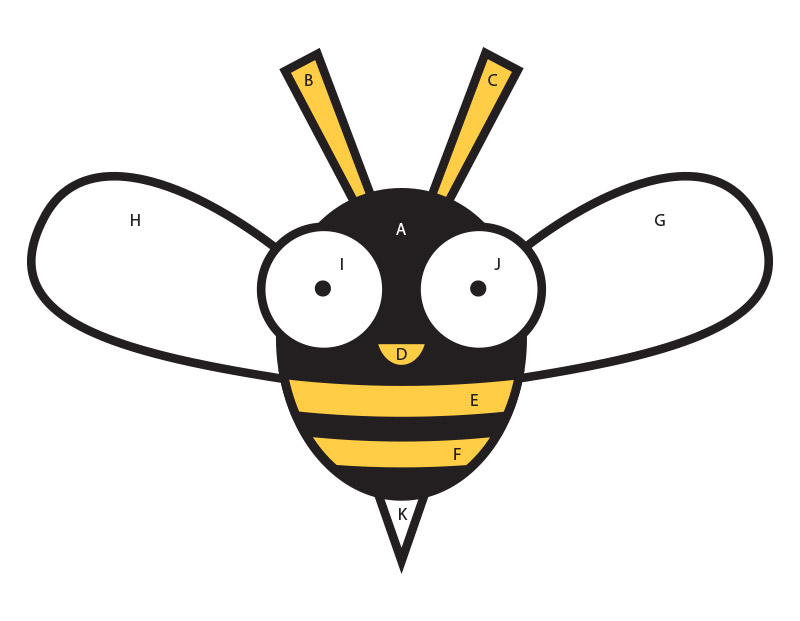 View the guide preview to help you glue Buzzy the Bee Craft