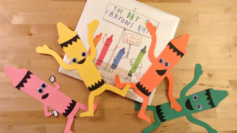 Create a crazy crayon craft inspired by 'The Day the Crayons Quit' by Drew Daywalt. Free template available at craftypammy.com