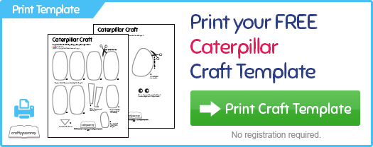 print the very hungry caterpillar activities kids craft template