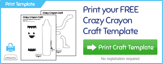 Print your FREE crazy crayon craft template