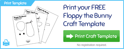 Print Floppy the Bunny Craft Template