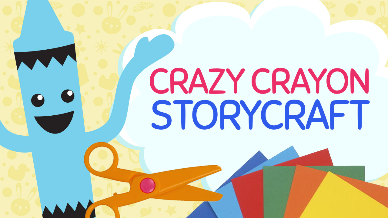 Crazy Crayon Story Craft Template Available for Print at craftypammy.com