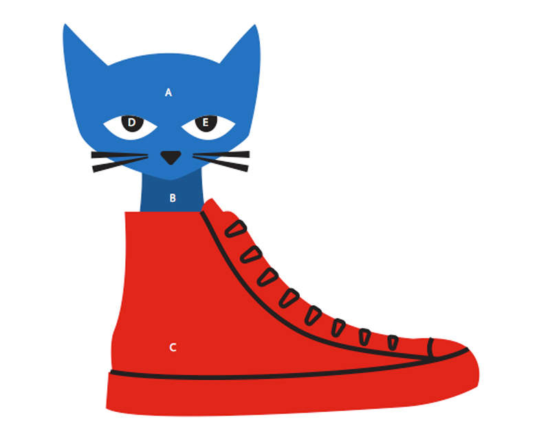 Use Pete the Cat Craft Guide to help you glue your craft together