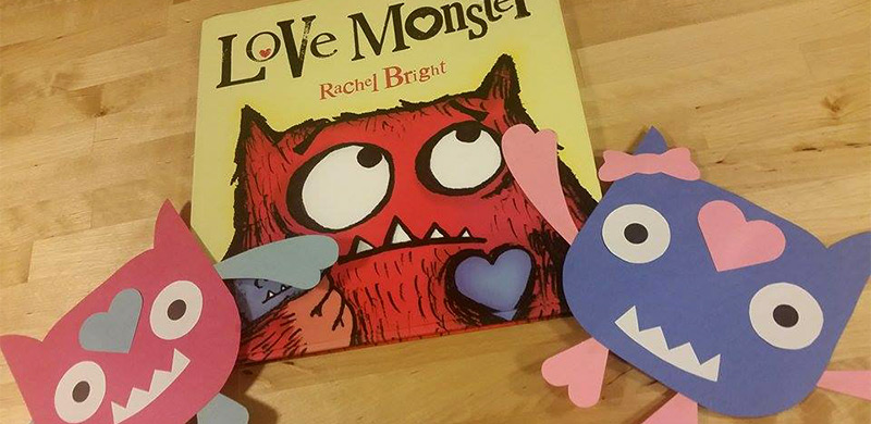 Visit craftypammy.com to create a Love Monster Valentine Craft inspired by Rachel Bright's Picture Book: Love Monster