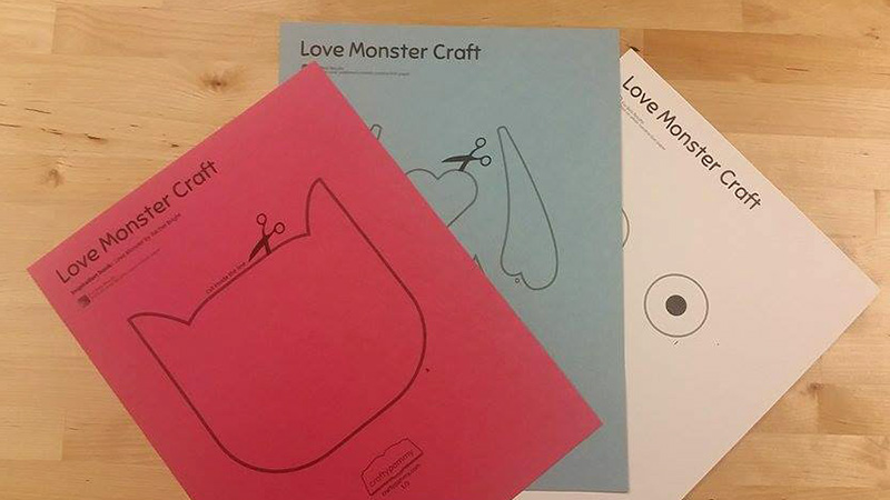 Print the Love Monster Valentine Craft on construction paper