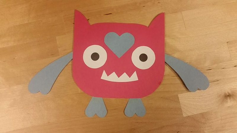 Create a Love Monster Craft for free at craftypammy.com. This craft was inspired by Rachel Bright's Picture Book: Love Monster