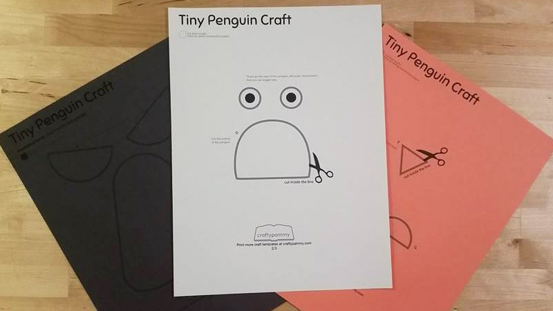 3D Penguin Paper Toy Free Printable  Easy Peasy and Fun