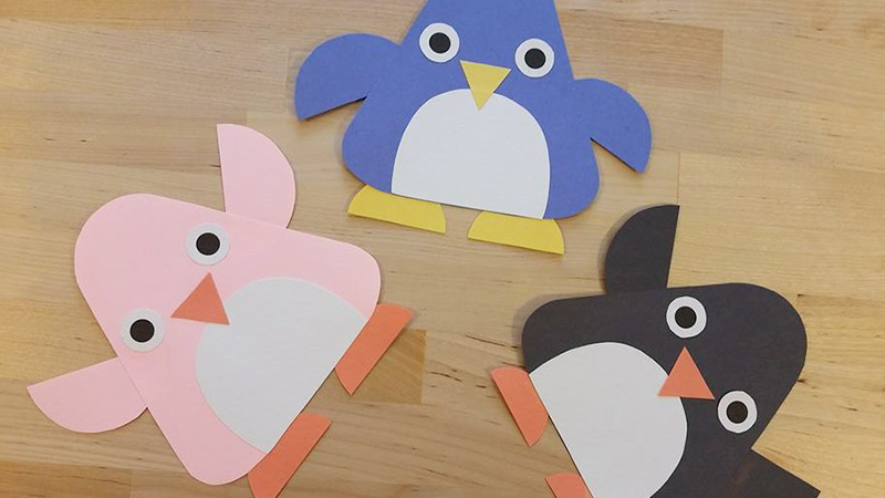 Penguin Craft For Kids | Craft Templates | Crafty Pammy