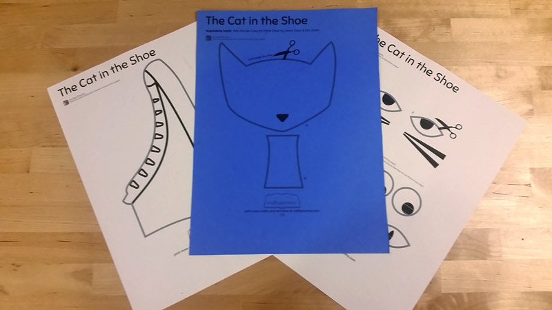 Print Pete the Cat Craft Template in Construction Paper