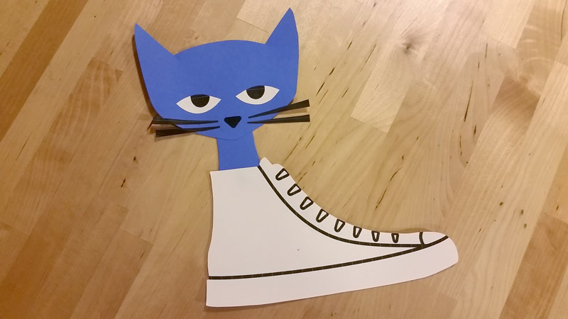 Create Pete the Cat inspired Craft by using the free craft templates available at craftypammy.com