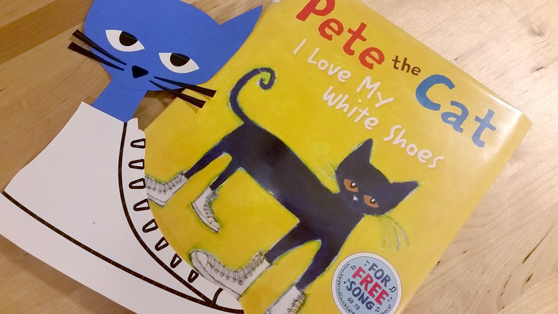Create Pete the Cat Craft by using the free craft templates available at craftypammy.com