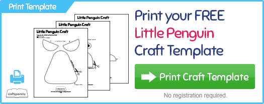 Print your free Little Penguin Craft Template at CraftyPammy.com