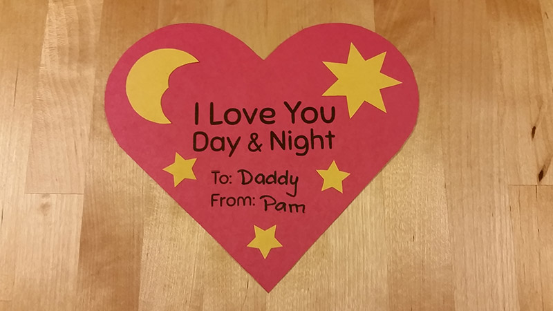 Create this Valentines Day Heart Craft at craftypammy.com