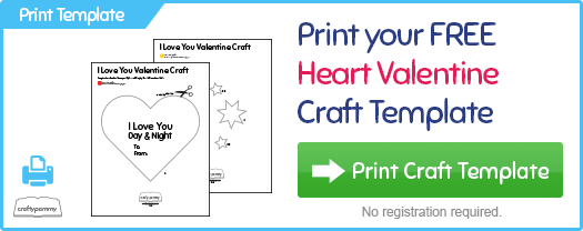 Print your Kids Valentines Day Heart Craft for Free