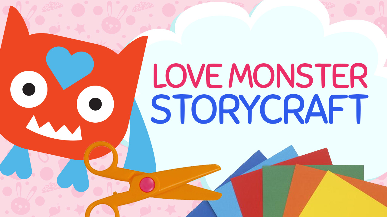 Create a Love Monster Craft this valentines day using my free craft templates available at craftypammy.com. Inspired by Rachel Bright's picture book: Love Monster