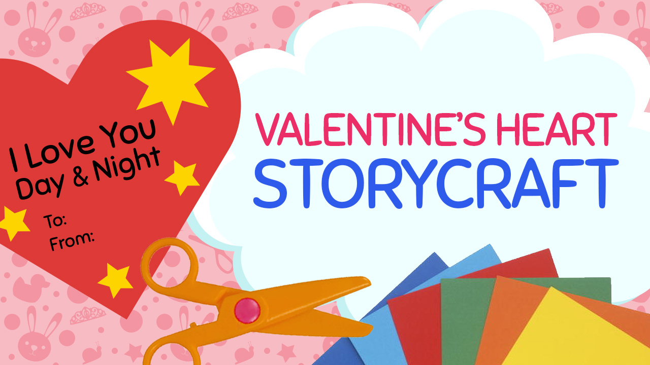 Create a Valentines Day Heart Craft for a special person using free template available for print at craftypammy.com