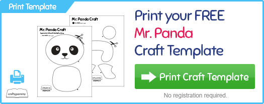 picture about Printable Crafts for Kids identified as You should Mr. Panda Craft Template Small children Craft Cunning Pammy