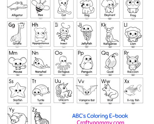 ABC 39 s Animal Coloring EBook Crafty Pammy