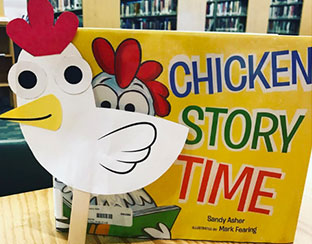 Chicken Storytime Craft and Book Library Photo