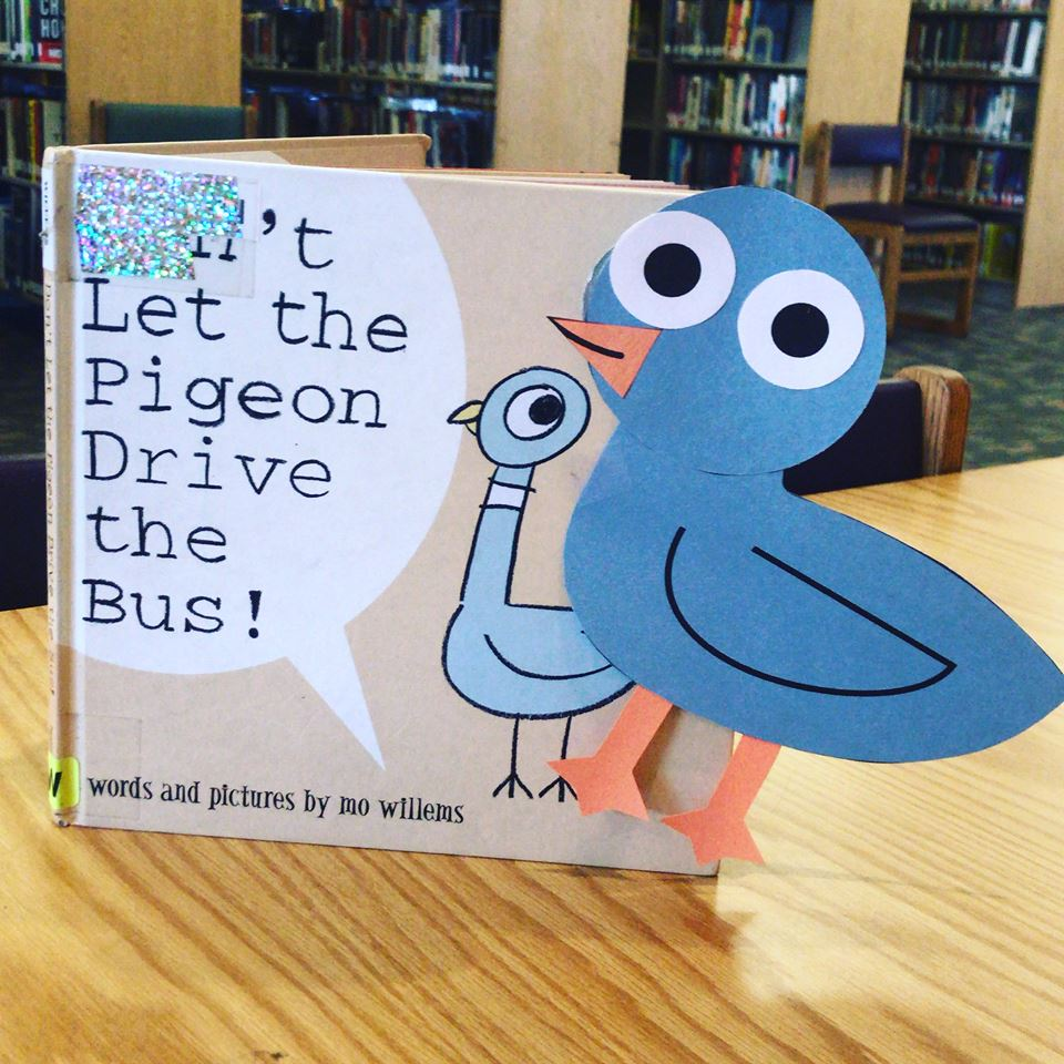 Dont let the Pigeon drive the bus craft Photo Storytime at the Library